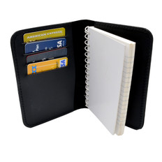 Perfect Fit Leather Book Style 3 x 5 Notebook Holder - Tattered Flag