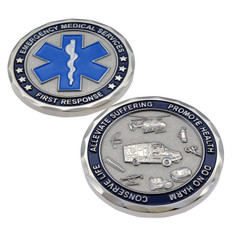 EMS Emergency Medical Services Star of Life Challenge Coin