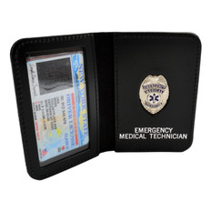 EMT Emergency Medical Technician Mini Badge ID Wallet
