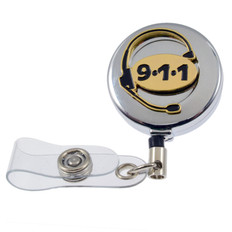 911 Emergency Dispatcher Retractable ID Holder Reel