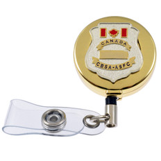 Canada Customs CBSA Badge Retractable ID Holder Reel
