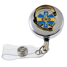 Emergency Medical Dispatcher EMD Retractable ID Holder Badge Reel