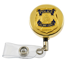 RCMP GRC Badge Retractable Security ID Holder Reel