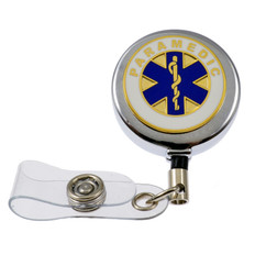 Paramedic Retractable Badge Reel ID Holder