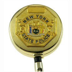 New York State Troopers Police Retractable ID Card Holder Badge Reel