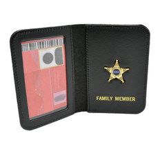 Deputy Sheriff Family Member Badge Leather ID Wallet Case