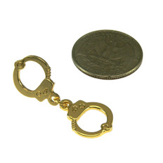 Gold Handcuff Lapel Pin