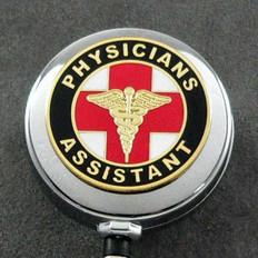 PA Physicians Assistant Retractable ID Holder