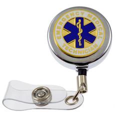 EMT Emergency Medical Technician Retractable ID Holder