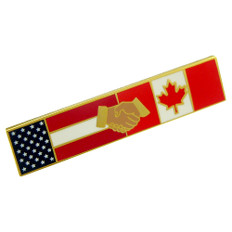 American Canadian Cooperation Police Uniform Citation Bar Lapel Pin