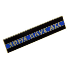 Thin Blue Line Police Uniform Citation Bar Lapel Pin
