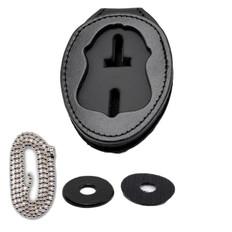 FBI Belt Clip Badge Holder with Pocket and Chain