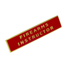 Firearms Instructor Police Uniform Citation Bar Lapel Pin