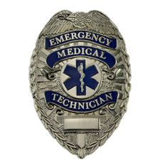 Deluxe Emergency Medical Technician EMT Silver Badge