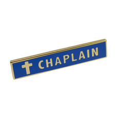 Chaplain Police Uniform Citation Bar Lapel Pin