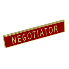 Negotiator Police Uniform Citation Bar Lapel Pin