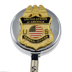 Federal Officer Retractable ID Holder Badge Reel