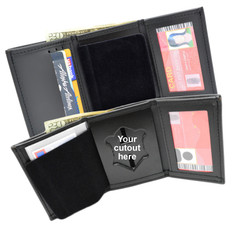 Perfect Fit Model 101 Trifold Leather Police Badge Wallet