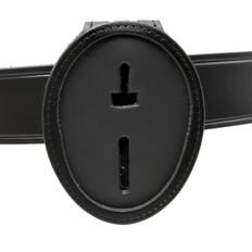 LAPD Recessed Clip On Belt Around Neck Leather Badge Holder