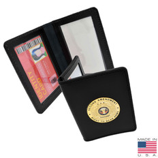 Concealed Weapons Permit Leather Case with 2nd Amendment Medallion