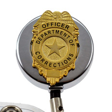 Corrections Officer Retractable Badge Reel ID Holder