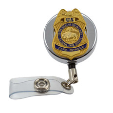 National Park Service Park Ranger Retractable Badge Reel ID Holder