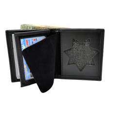 CDCR California Corrections 7 Point Star Flat Badge Wallet