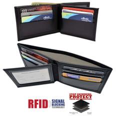 RFID Blocking Bifold Credit Card Wallet Black