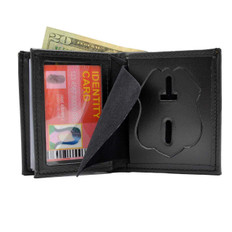 Houston Police Sergeant Leather Hidden Badge Wallet