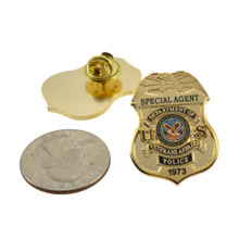 Department of Veterans Affairs Special Agent Mini Badge Lapel Pin