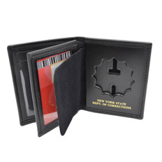 NY Corrections Officer Badge Case Holder Credit Card Wallet NYDOC Perfect Fit