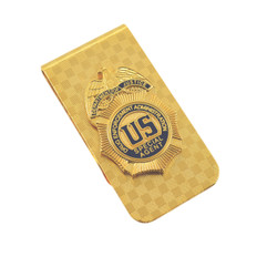 DEA Special Agent Mini Badge Money Clip Cash Holder Gold