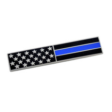 Subdued American Flag Blue Line Police Citation Bar Patriot Mourning Band