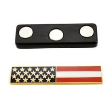 Magnetic U. S. American Flag Citation Bar Gold