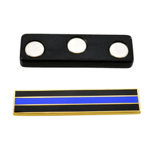 Magnetic Thin Blue Line Citation Bar Gold
