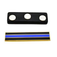Magnetic Thin Blue Line Citation Bar Gold
