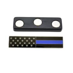 Magnetic Subdued American Flag Blue Line Citation Bar