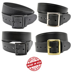 "Perfect Fit 1.75"" Top Grain Leather Garrison Belt"