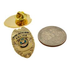 Defense Logistics Agency Mini Badge Lapel Pin Gold