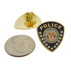 VA Department of Veterans Affairs Police Patch Lapel Pin