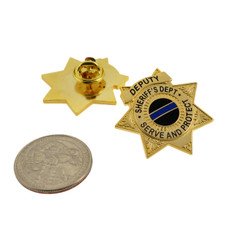 Deputy Sheriff 7 Point Star Mini Badge Lapel Pin