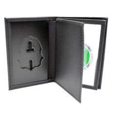 Perfect Fit DEA Badge Case Double ID Credit Card Wallet Black