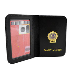NYPD Family Member Wallet and ID Case with Mini Badge Detective