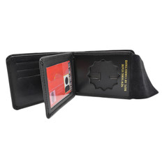 Premium Leather Badge Wallet with Credit Card Slots