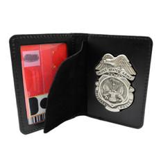Army Military Police MP Badge and Credential Case - Subdued Badge