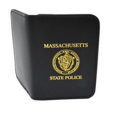 Massachusetts State Police Badge Case with Imprint