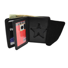 Ohio Sheriff 5 Point Star Badge Wallet - Premium Leather Bifold