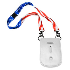 USA Flag Double Hook Lanyard Neck Chain Replacement Safety Snap