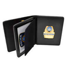 Montreal Police SPVM Duty Leather Badge Case - Double ID - Pocket