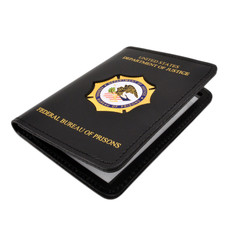 Federal Bureau of Prisons Double ID Leather Case